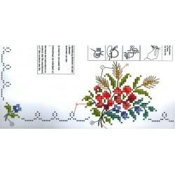 Hímezhető terítő szett fonallal 80x80 cm 6005