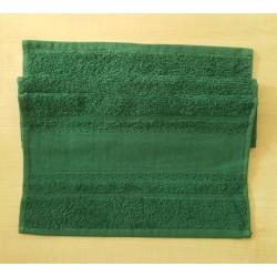 Hímezhető törölköző 30x50 cm sötétzöld
