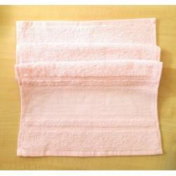Hímezhető törölköző 30x50 cm rózsaszín