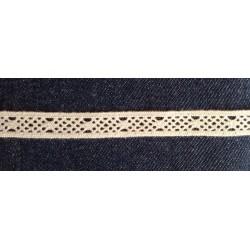 Pamutcsipke 1,2 cm törtfehér csipkeszalag