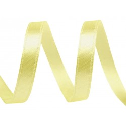 Szatén szalag 0,9 cm sárga