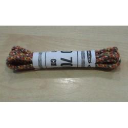 Cipőfűző gömbölyű 70 cm gyerekcipőbe mustár/színes