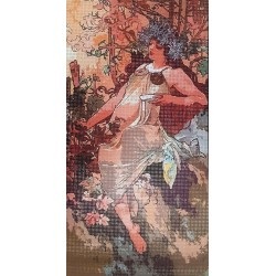 Gobelin 20x40 cm A013 Mucha: Ősz 1896
