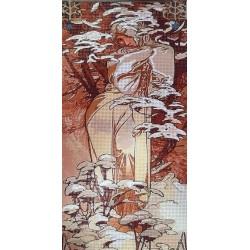 Gobelin 20x40 cm A014 Mucha: Tél 1897