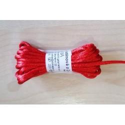 Szatén zsinór 0,2 cm piros 3 m/csomag