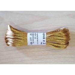 Szatén zsinór 0,2 cm aranyszínű 3 m/csomag