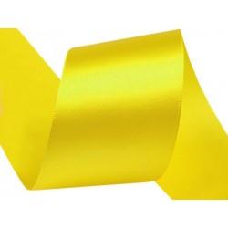 Szatén szalag 4 cm sárga