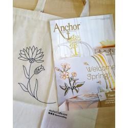 Anchor mintafüzet Tavasz ajándék hímezhető szatyorral