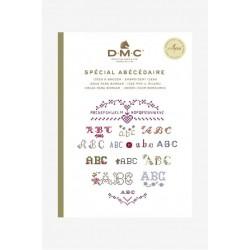 Keresztszemes mintaív Betűk DMC