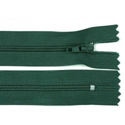 Cipzár 45 cm műanyag sötétzöld