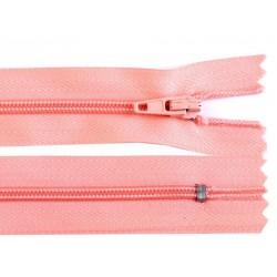 Cipzár 12 cm műanyag barackos rózsaszín RT0
