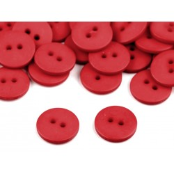 Gomb 1,5 cm matt piros
