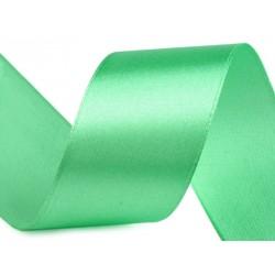 Szatén szalag 4 cm zöld