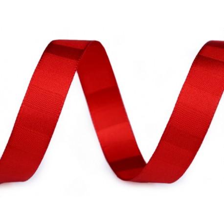 Díszszalag 1,5 cm csíkos piros