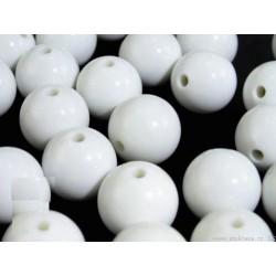 Műanyag gyöngy 1,6 cm fehér 10 db