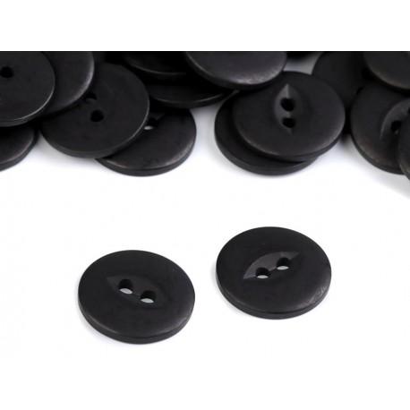 Gomb 1,9 cm fekete