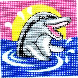 Gobelin 10x10 cm 101005 Delfin