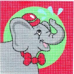 Gobelin 10x10 cm 101006 Elefánt