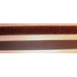 Tépőzár 2 cm sötétbarna