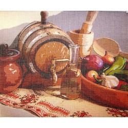 Gobelin 25x30 cm CS019 Terített asztal