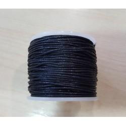 Viaszos pamutzsinór 1 mm fekete