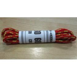 Cipőfűző gömbölyű 60 cm gyerekcipőbe piros/sárga/mustár