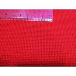 Aida 5 keresztszemes anyag piros 160 cm széles