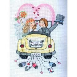 Keresztszemes 24x18 cm ACS15 Friss házasok