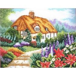 Keresztszemes 20x25 cm PCE593 Tanyasi virágoskert