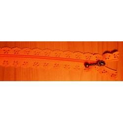 Cipzár csipke spirál 25 cm narancs
