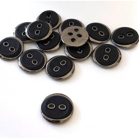 Gomb 2,1 cm antracit/fekete