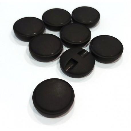 Gomb 2,4 cm matt fekete