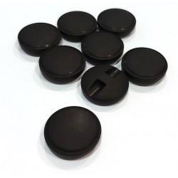 Gomb 2 cm matt fekete