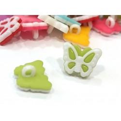 Babagomb 1,3x1,5 cm pillangó zöld