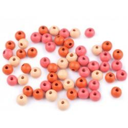 Fagyöngy 0,8 cm pink/barack/terrakotta keverék 10 g