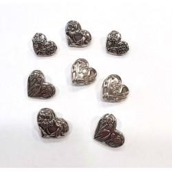 Dress It Up gombszett Assorted Silver Hearts