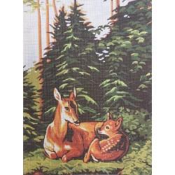 Gobelin 22x30 cm 159 Őzek
