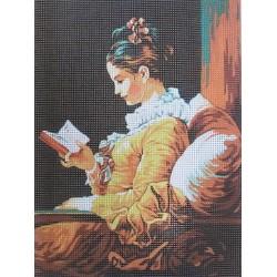 Gobelin 22x30 cm 041 Olvasó lány