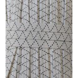 Gumi 0,8 cm erős fehér cikkcakkos