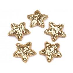 Dekoráció csillag 3,5 cm arany