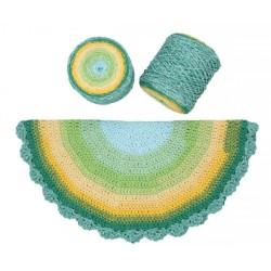 ReTwisst Macrame Chainy Cotton Cake zöld/sárga 250 g