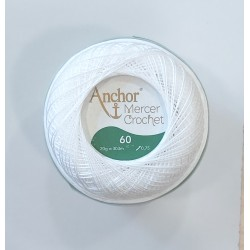 Mercer Crochet fehér 60-as 20 g