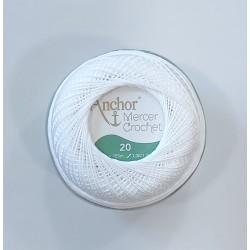 Mercer Crochet fehér 20-as 20 g