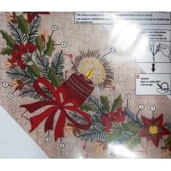 Hímezhető előfestett csipkés terítő 21-250 90x90 cm