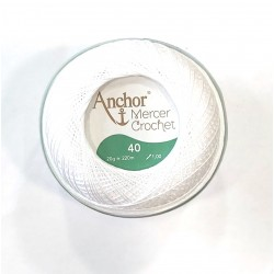Mercer Crochet fehér 40-es 20 g