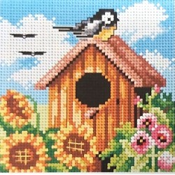 Gobelin 15x15 cm 2306 nyári madáretető