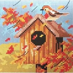 Gobelin 15x15 cm 2307 őszi madáretető