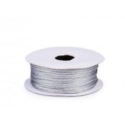 Karácsonyi lurexzsinór 0,1 cm 10 m/csomag ezüst