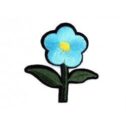 Vasalható folt türkiz virág