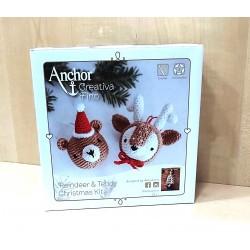 Amigurumi horgoló szett karácsonyi díszek